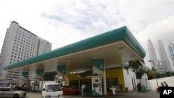 Pom bensin Petronas di Kuala Lumpur.