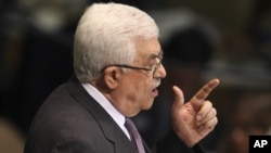 Presiden Palestina Mahmoud Abbas berpidato pada sidang Majelis Umum PBB, September 2012. (Foto: Dok)