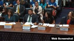 Bà Helen Nguyen và các nhân chứng khác trong cuộc điều trần hôm 25/7/2019.. Photo House Affairs Committee