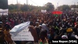 Forte mobilisation du Collectif contre l'impunité, à Ouagadougou, le 12 janvier 2019. (VOA/Issa Napon)