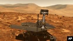 Artist's rending of Mars rover