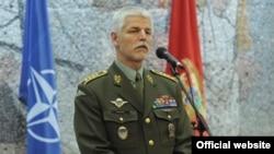 Predsedavajući Vojnog komiteta NATO-a Petr Pavel na konferenciji za novinare u Podgorici (gov.me)