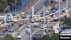 佛罗里达步行桥坍塌死伤人数上升至6人