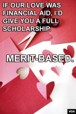 If our love was financial aid, I