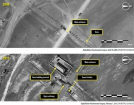 Hình ảnh khu vực Trại tù 14. Trong 7 năm qua các trạm gác và chòi canh đã được nới rộng để bao gồm một khu vực có đường kính 20 kilomét ở thung lũng Choma-Bong và cư dân ở vùng này.
