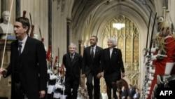 Барак Обама в Вестминстерском дворце