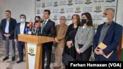 Preskonferansa Hevbeş ya Parêzgarê Helebce û Komîta Parlamenê