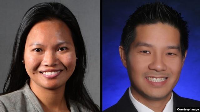 Bà Natalie Trần (trái) là đồng chủ tịch Hội đồng Cố vấn Giáo dục Mỹ - Việt của Đại học Cal State Fullerton.