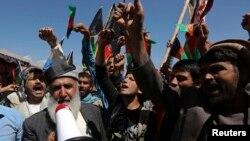 아프가니스탄 수도 카불에서 6일 반 파키스탄 시위가 벌어졌다.