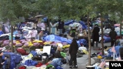 Polisi membubarkan kemah-kemah pelaku unjuk rasa dan memangkap ratusan pelakunya. Tampak dalam gambar kemah di Zuccotti Park, New York (foto:dok).