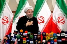 Iran's President - elect Hasan Rowhani in Tehran, June 17, 2013.