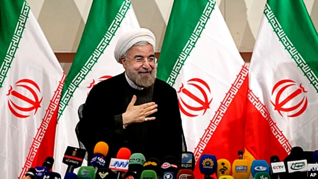 Hassan Rouhani, June 17, 2013 file photo.