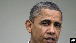 美國總統奧巴馬4月17號在白宮玫瑰園發表講話,表示要打擊操縱石油市場