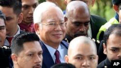 Najib Razak arrive au tribunal à Kuala Lumpur, Malaisie, le 4 juillet 2018