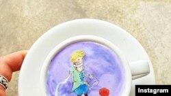 نقاشی های مرغوب در روی قهوه