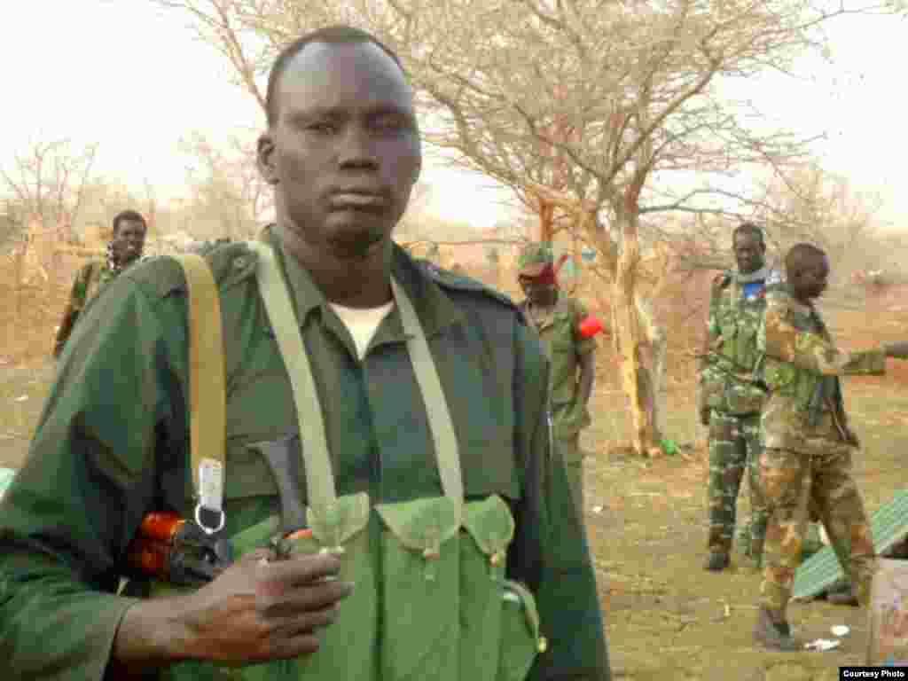 South Sudan rebel leader David Yau Yau in Jonglei state.