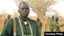Rebel leader David Yau Yau, shown here at an undisclosed location in Jonglei state, has reportedly reached a peace deal with the government.