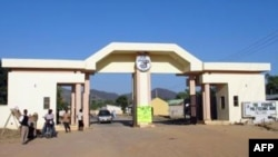An undated picture released on the Mubi Federal Polytechnic school website shows the entrance of the premises in Mubi in northeast Nigeria.