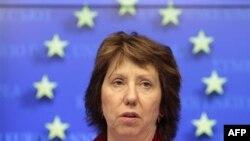 Visoka predstavnica EU Ketrin Ešton na konferenciji za novinare u Briselu