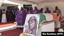 Funérailles de l'écrivain ivoirien Bernard Dadié à la cathédrale Saint-Paul d'Abidjan le 12 avril 2019.