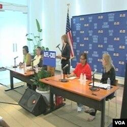 Najveća federacija američkog sindikalnog udruženja, AFL-CIO nastoji mobilizirati glasače da podrže Demokratsku partiju predsjednika Obame