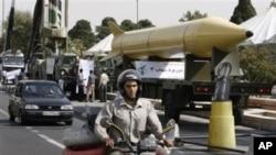 德黑兰去年9月展示导弹,纪念80年代的两伊战争