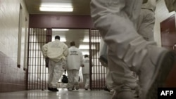 Prisoners at the William E. Donaldson Correctional Facility in Bessemer, Alabama, return to their cells