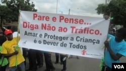 Marcha contra tráfico de seres humanos