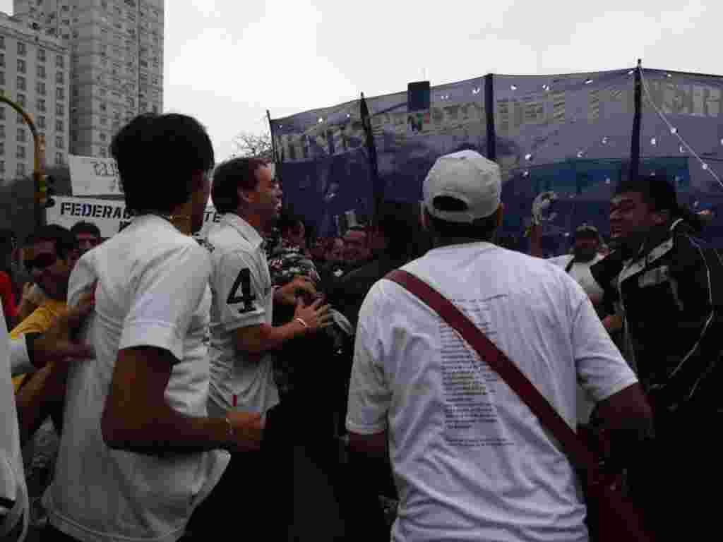 Celebración del Día del Trabajador en Buenos Aires, Argentina.