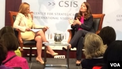 Melinda Gates (right) vowed to fight for the empowerment of women and girls at an event in Washington DC. (Photo: Marvellous Mhlanga Nyahuye)