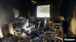 An interior view of the damage at the U.S. consulate, which was attacked and set on fire by gunmen in Benghazi, Sept. 12, 2012.