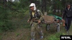 Александр Габышев на пути в Москву.