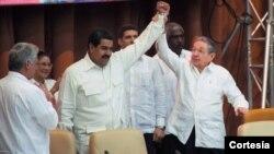El jefe de estado venezolano asistió este lunes a Cuba, donde participó en el Consejo Político del ALBA.