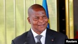 Le président centrafricain Faustin-Archange Touadéra à Abidjan, Côte d'Ivoire, 7 novembre 2016.