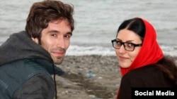 گلرخ ابراهیمی و همسرش آرش صادقی
