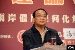美麗島電子報專欄作家陳淞山。(美國之音湯惠芸)