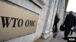 Markas besar WTO di Jenewa, Swiss. DPR Komisi XI berencana menghadiri pertemuan tahunan WTO pekan mendatang.