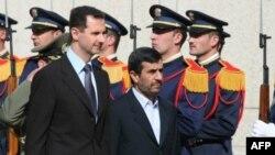 Президенты Сирии и Ирана - Башар Асад и Махмуд Ахмадинежад