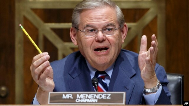 The Senate Foreign Relations Committee Chairman Robert Menendez, D-N.J., on Capitol Hill in Washington, Wednesday, March 12, 2014.