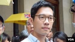 香港眾志主席羅冠聰 (美國之音湯惠芸拍攝)