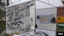 俄罗斯纪念碑人权组织2011年10月末在政治迫害受难者日展出的一些同苏共政治迫害有关的图片和资料。