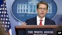 Juru bicara Gedung Putih, Jay Carney (foto: dok). Gedung Putih menyangkal laporan bahwa AS dan Iran sepakat melakukan perundingan langsung soal program nuklir Iran.