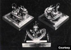 Ấn Hoàng Đế Chi Bảo. (Hình: Trên VnExpress, do Tiến sĩ Sử học Phan Thanh Hải cung cấp)