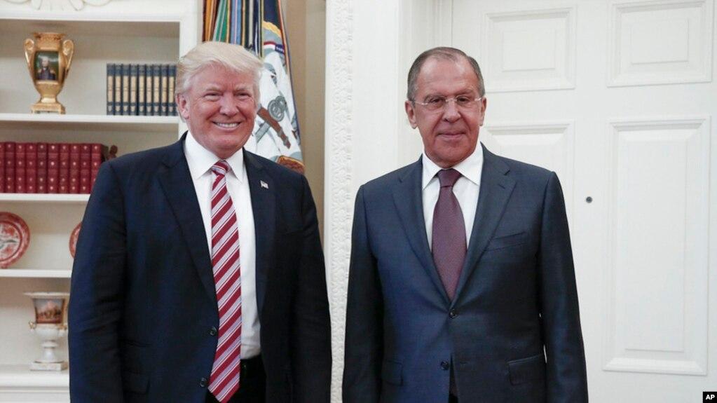 Takimi i presidentit Trump me ministrin e Jashtëm rus
