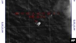中國出示印度洋漂浮物衛星圖像