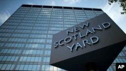 Markas besar kepolisian Inggris, atau Scotland Yard, di London.