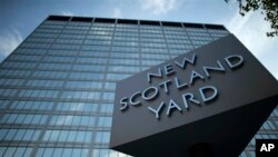 Kantor pusat Kepolisian Metropolitan London (Scotland Yard) di pusat kota London (Foto:dok).
