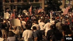 Протесты профсоюзов в Нью-Йорке