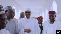 Le président Muhammadu Buhari le 5 mai 2017. (Sunday Aghaeze/Nigeria State House via AP)