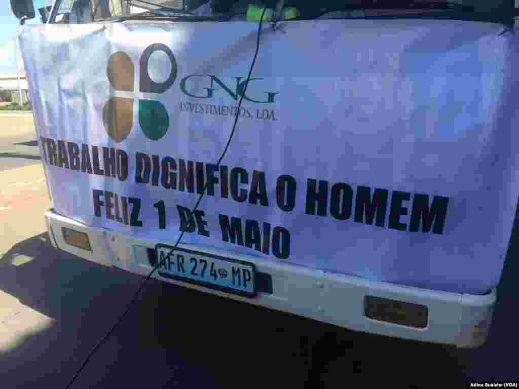 Celebração do 1º de Maio na cidade de Nampula, em Moçambique